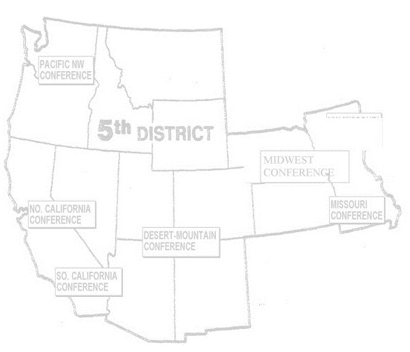 Fifth Episcopal District Lay Organization Map